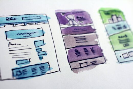 Web Design Wireframe Sketches