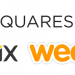 Squarespace, Wix and Weebly logos